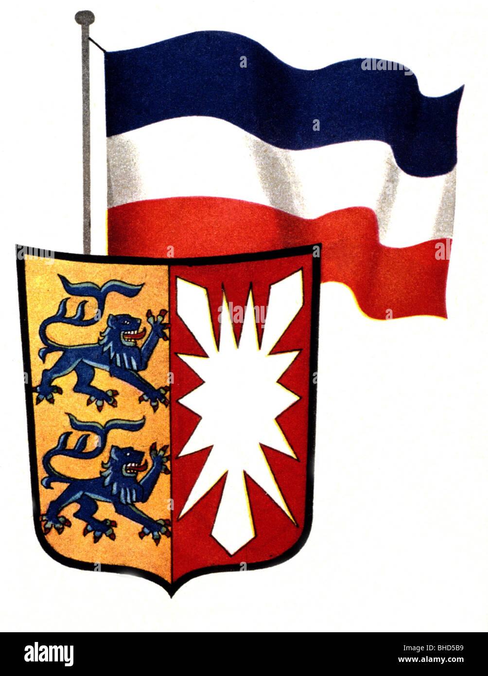 Wappen Flagge Und Wappen Von Schleswig Holstein Deutschland Brd