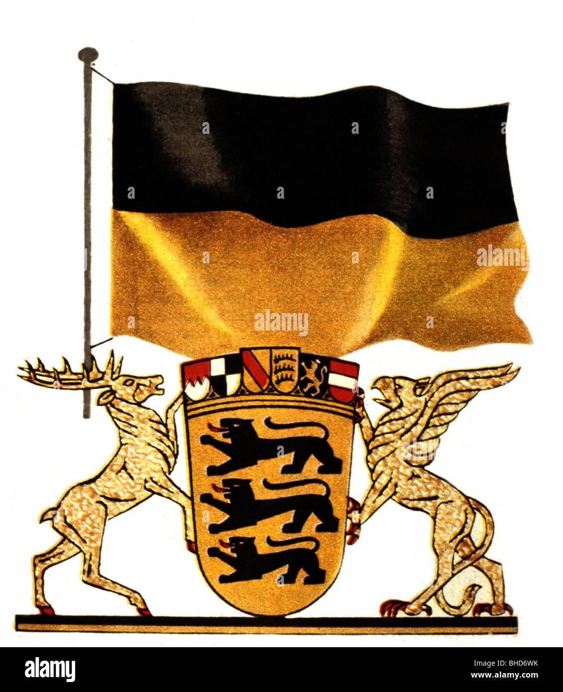 wappen flagge und wappen von badenw252rttemberg heraldik