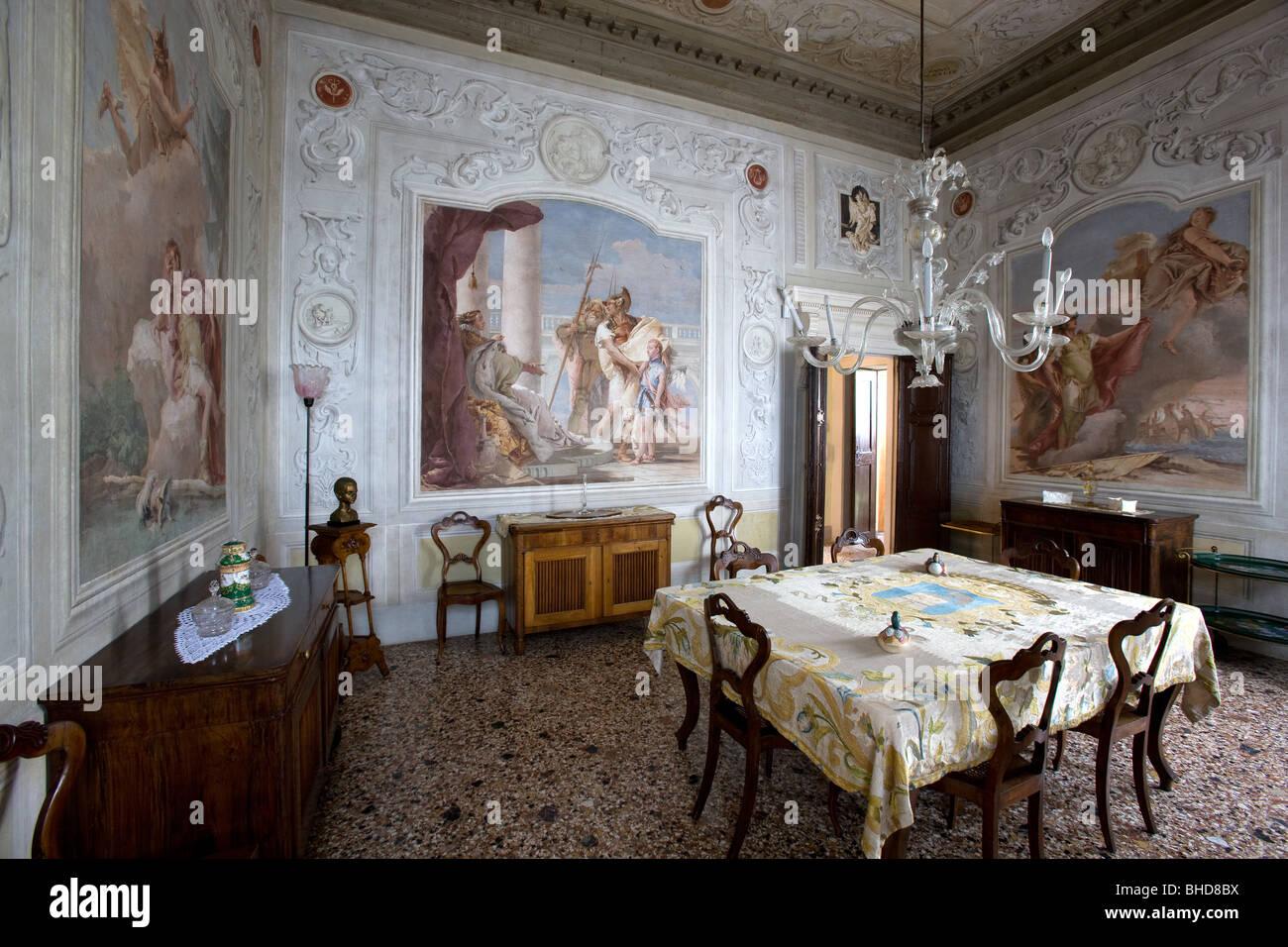 Europa Italien Venetien Vicenza Villa Valmarana Ai Fresken Von