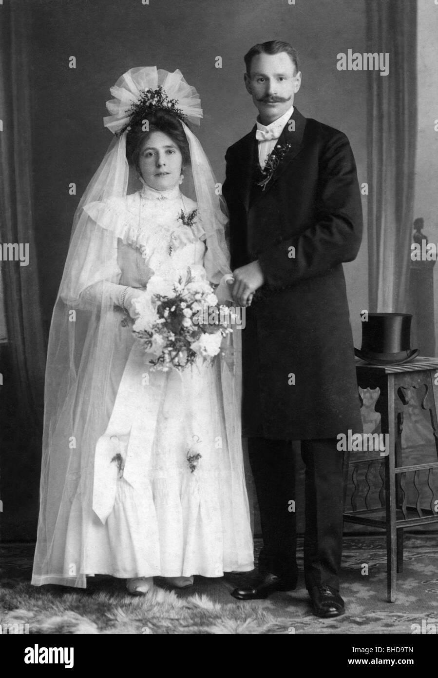 Leute Paare 1900 1930 Hochzeit Foto Von Wilhelm Boos