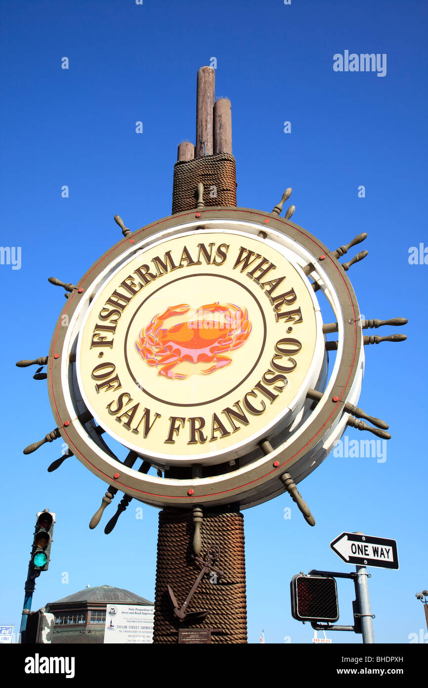 San Francisco Fishermans Wharf Stockbild