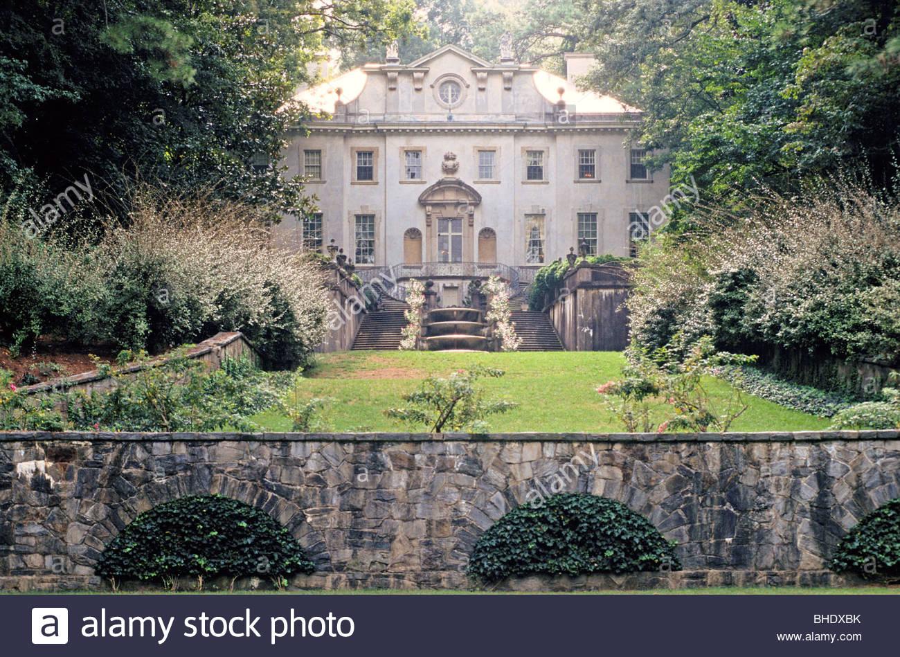 Die Swan House ist ein hervorragendes Beispiel für den zweiten Neorenaissance-Stil und repräsentiert die Stockbild