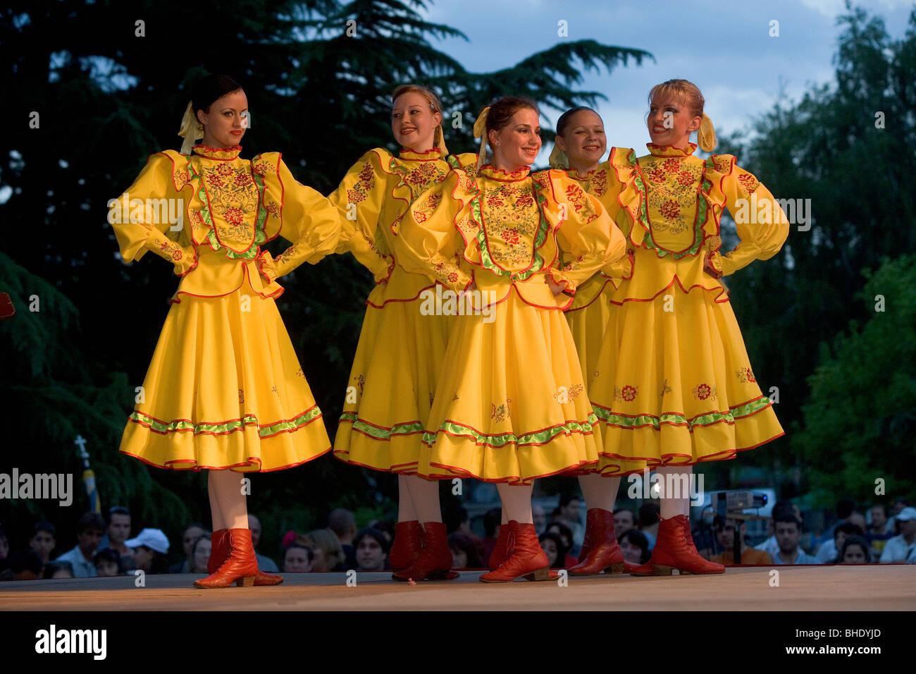 Russland Folklore Kostume Traditionelle Kleidung Internationales