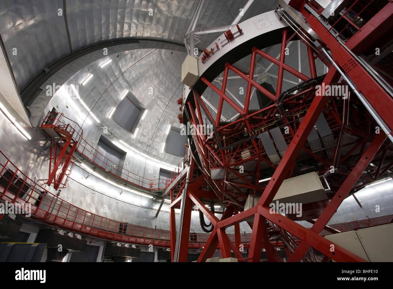 Gran Telescopio Canarias, GranTeCan, GTC, der weltweit größten Spiegel Teleskop, Observatorio Astrofisico, Stockbild