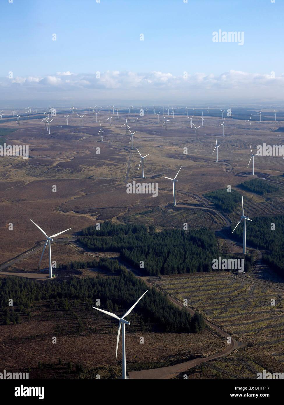 Whitelee Windfarm, südlich von Glasgow auf Eaglesham Moor, Zentralschottland Stockbild