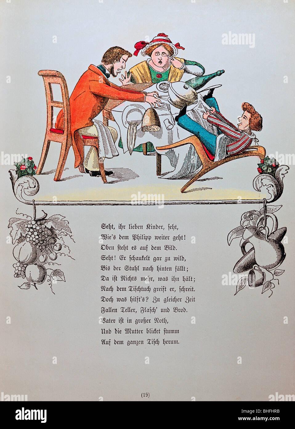 """Literatur, """"Der Struwwelpeter"""", """"Sterben Geschichte Vom Zappel-Philipp"""" (die Geschichte von Stockbild"""