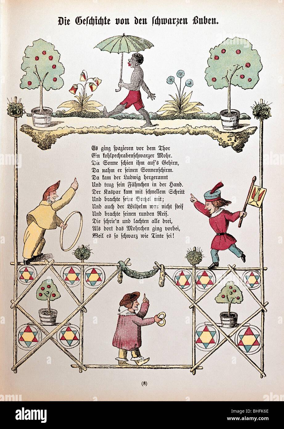 """Literatur, """"Der Struwwelpeter"""", """"Sterben als Vom Jugendbuchklassikers Buben"""" (die Geschichte Stockbild"""