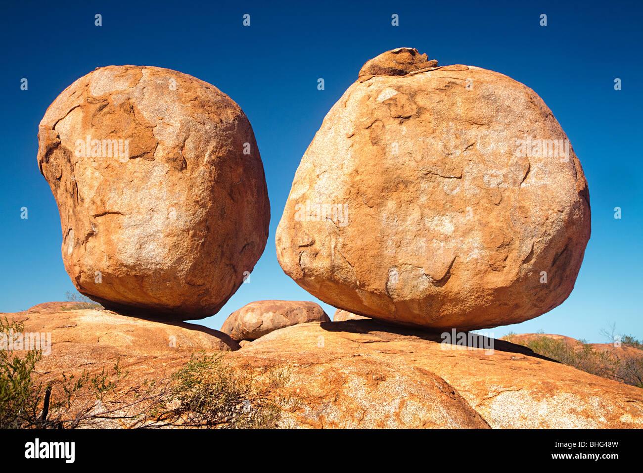 Devils Marbles Australien Stockbild