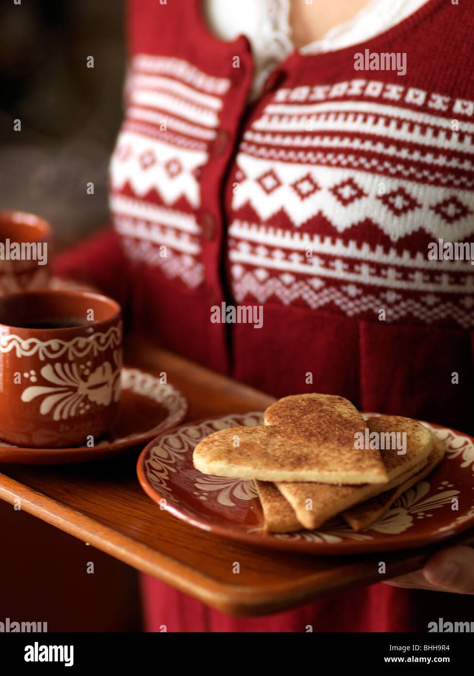 Zimt-Cookies, Schweden. Stockfoto
