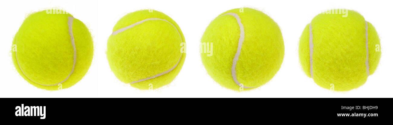 Tennisball isoliert auf weißem Hintergrund Stockbild