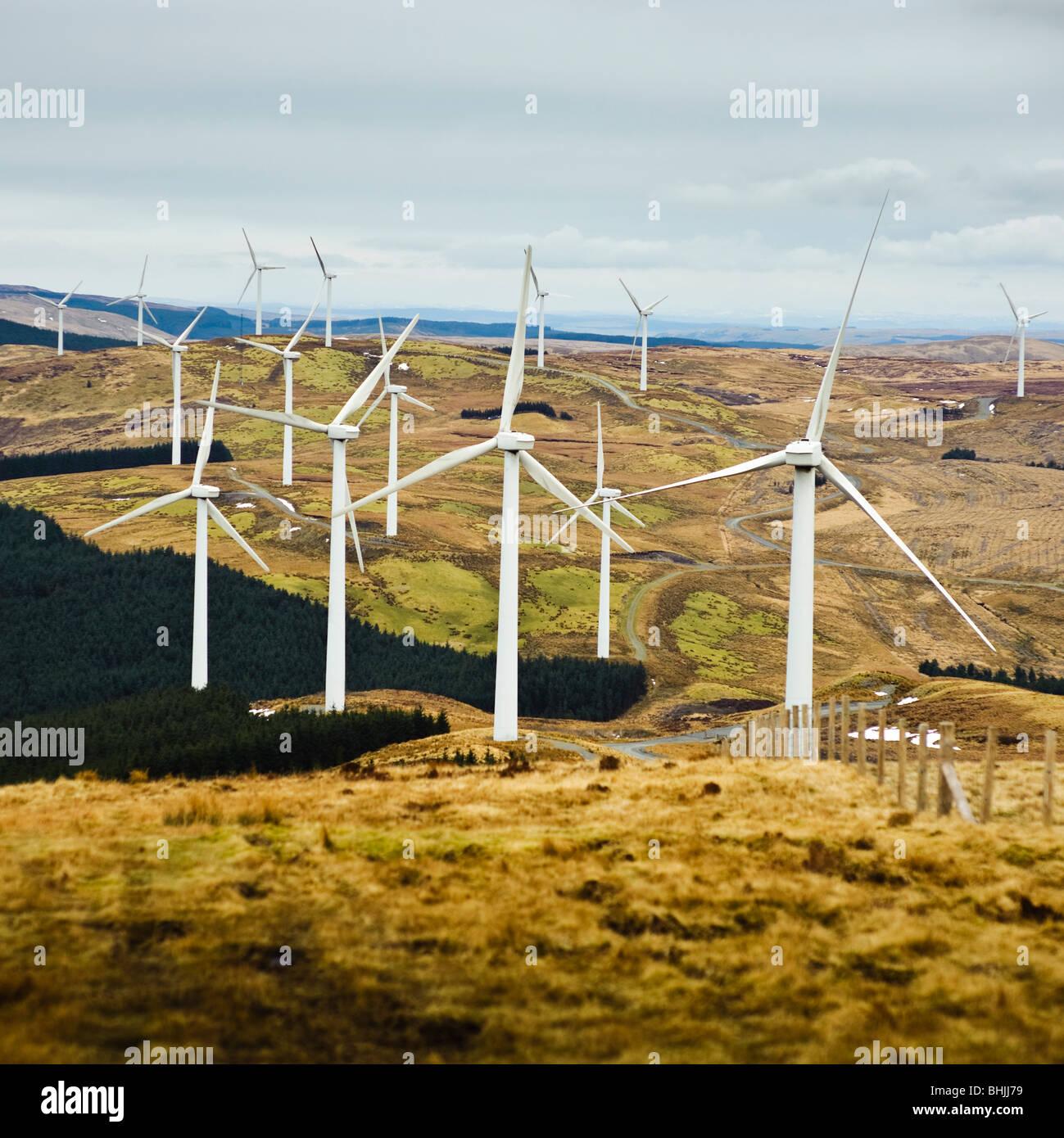 Cefn Croes Windpark, Ceredigion Wales UK Stockbild