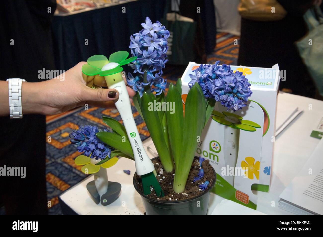 EasyBloom Pflanzensensor hilft den Gärtner wählen Sie einen geeigneten Platz für Pflanzen und Pflanzen Stockbild