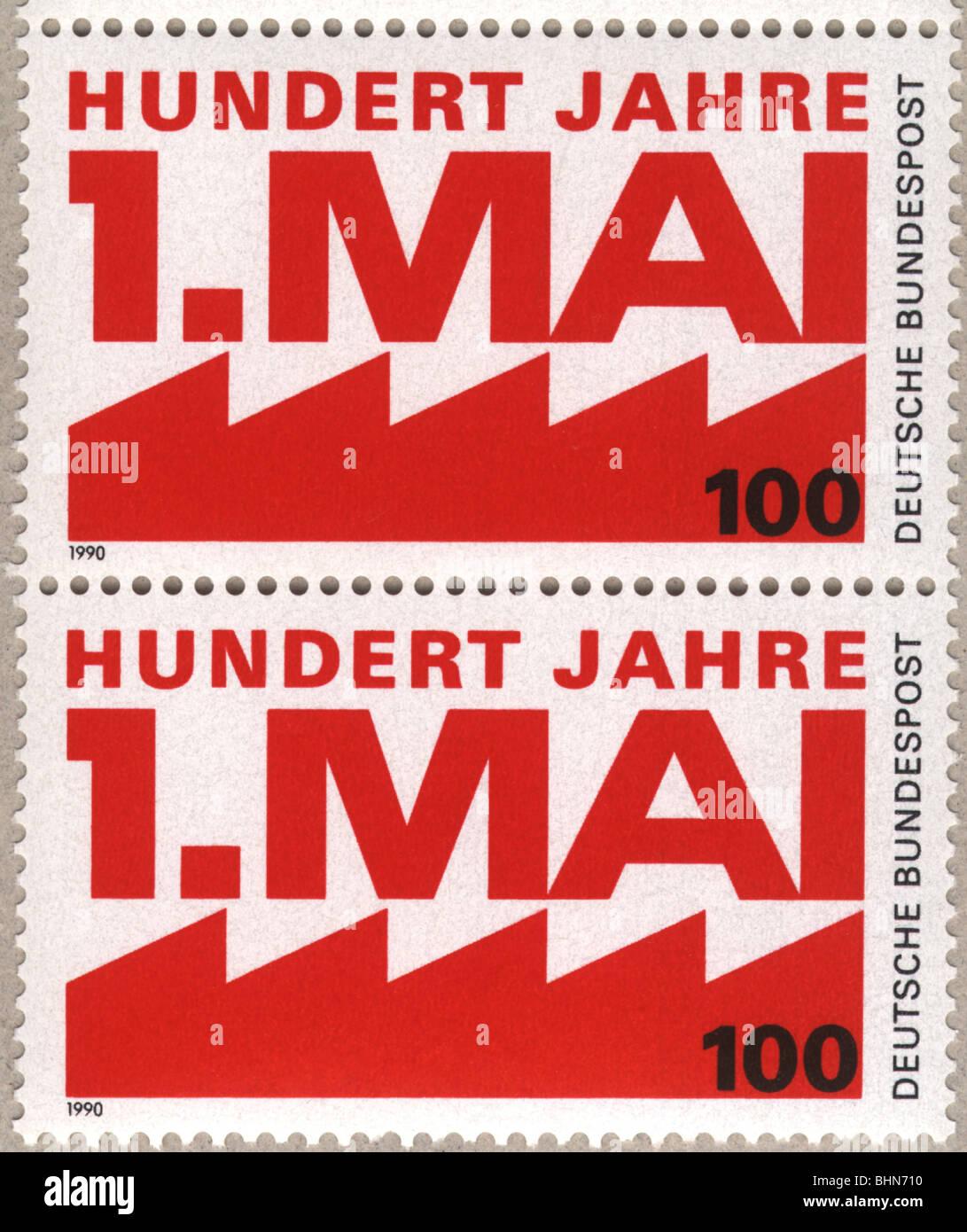 Mailpost Briefmarken West Germany Deutsche Bundespost Deutsche
