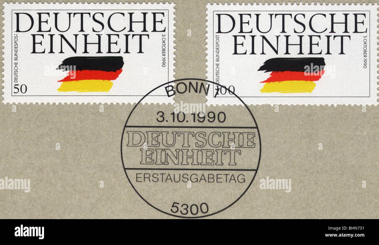 Mailpost Briefmarken Deutschland Deutsche Bundespost Deutsche