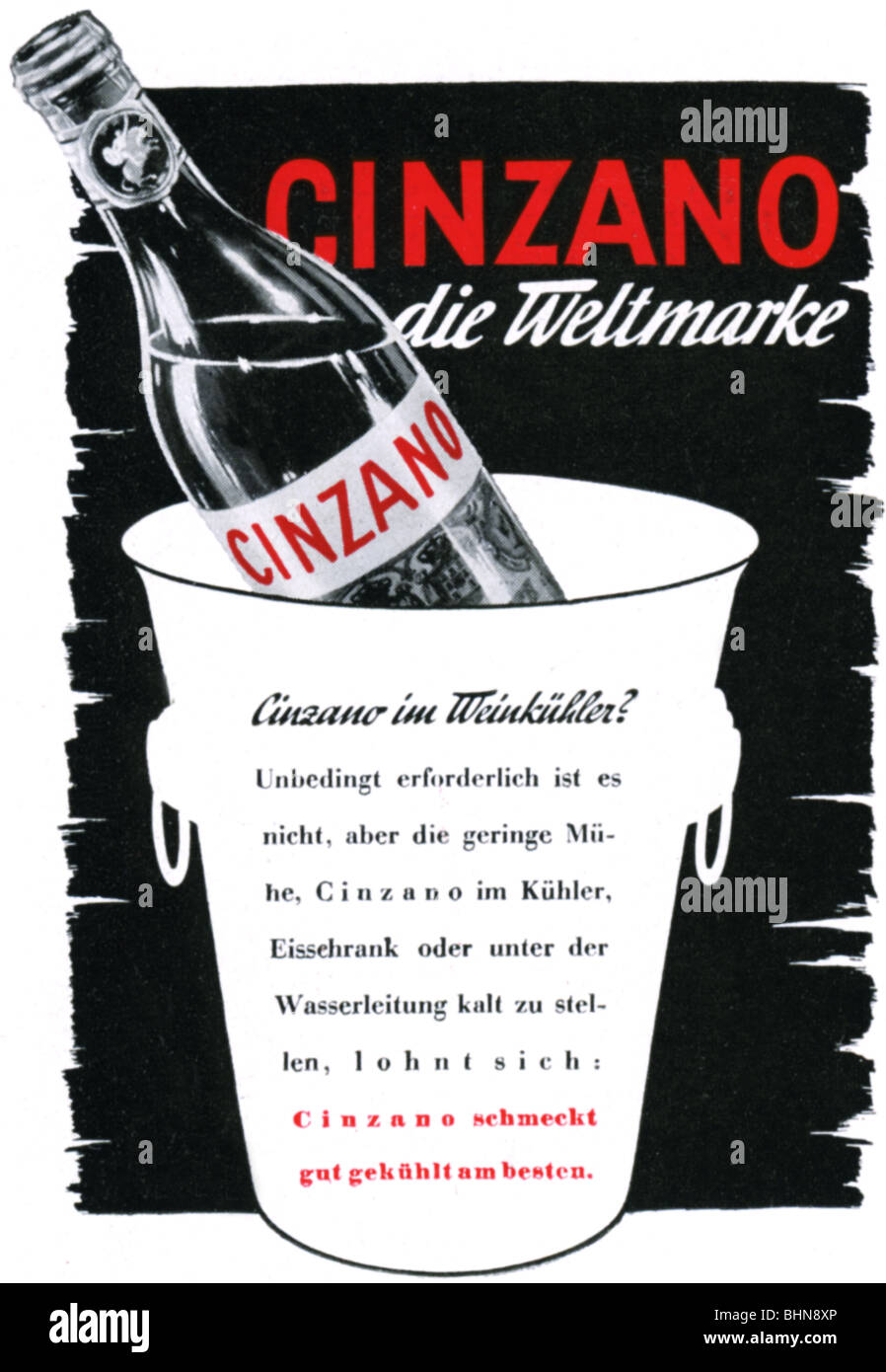 Werbung, Getränke, Wermut, Cinzano, Anzeige, \