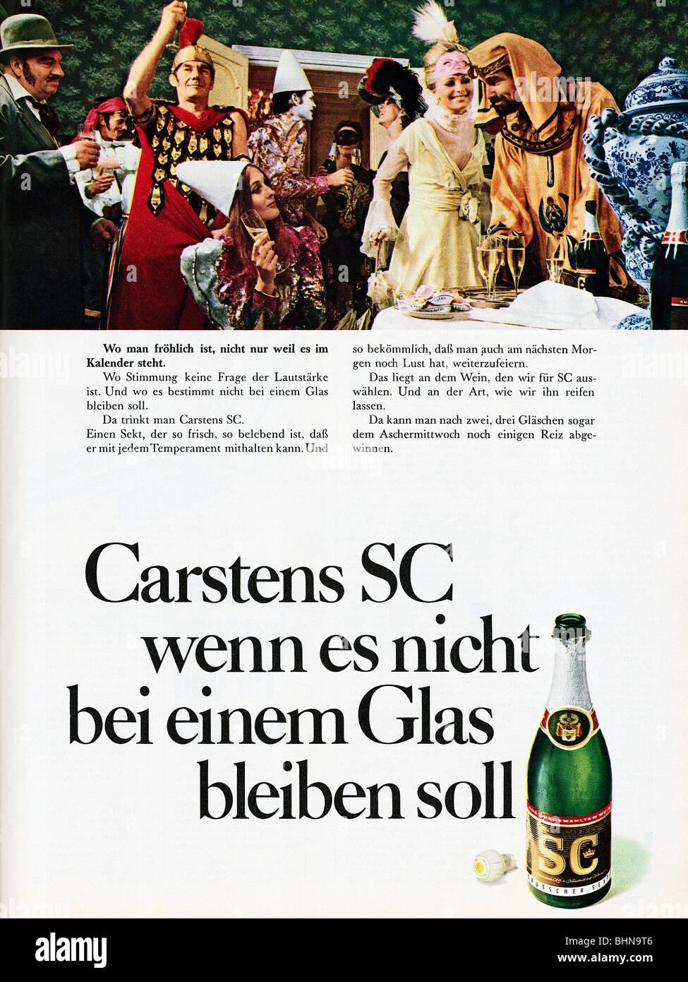 Werbung, Getränke, Sekt, Carstens SC \