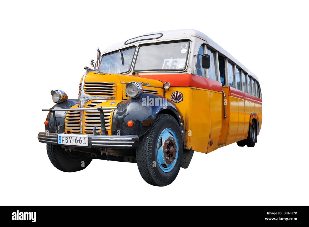 Maltesische klassischen öffentlichen Busverkehr Stockbild
