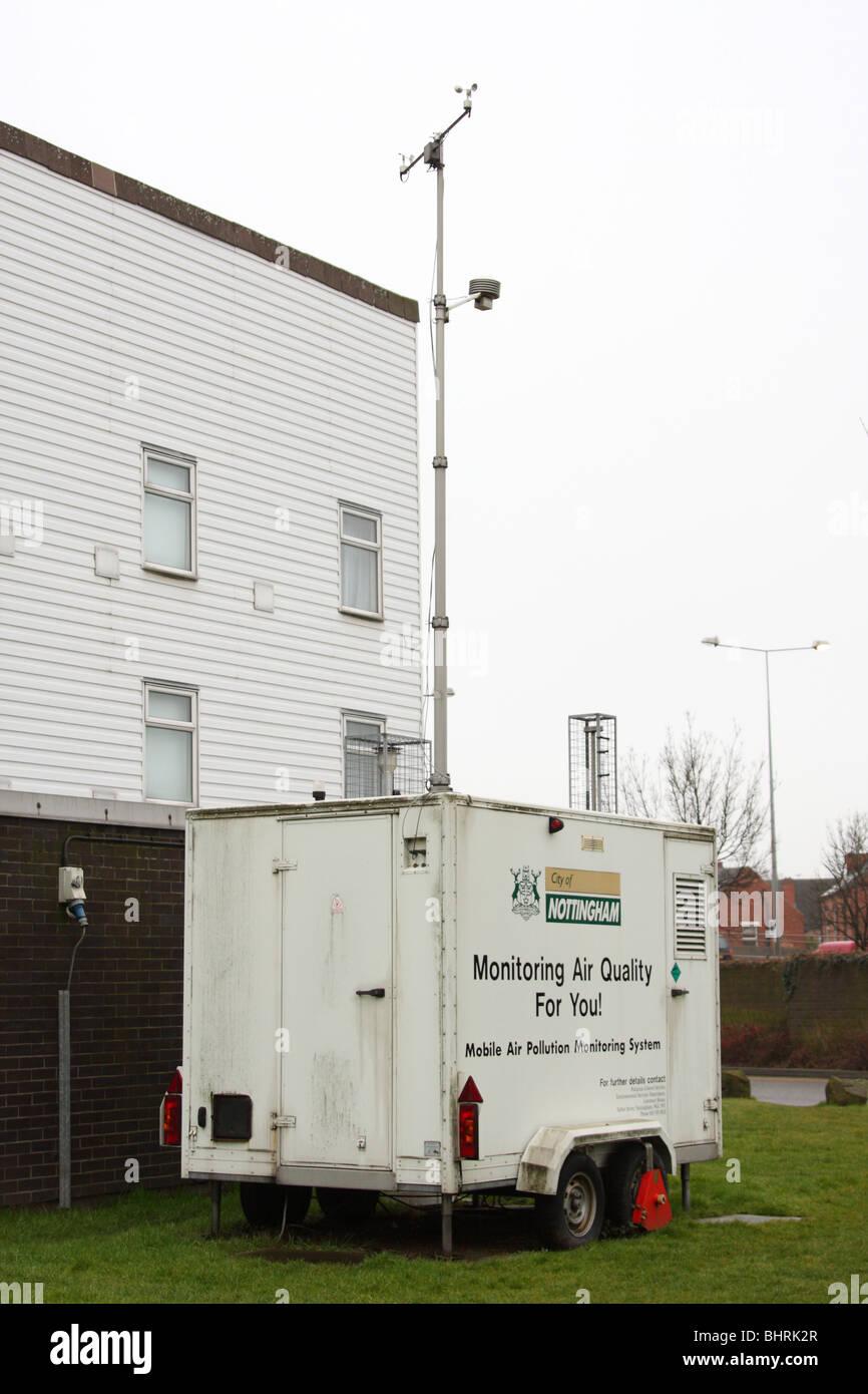 Eine mobile Luftverschmutzung monitoring-System in einer Stadt, U.K. Stockbild
