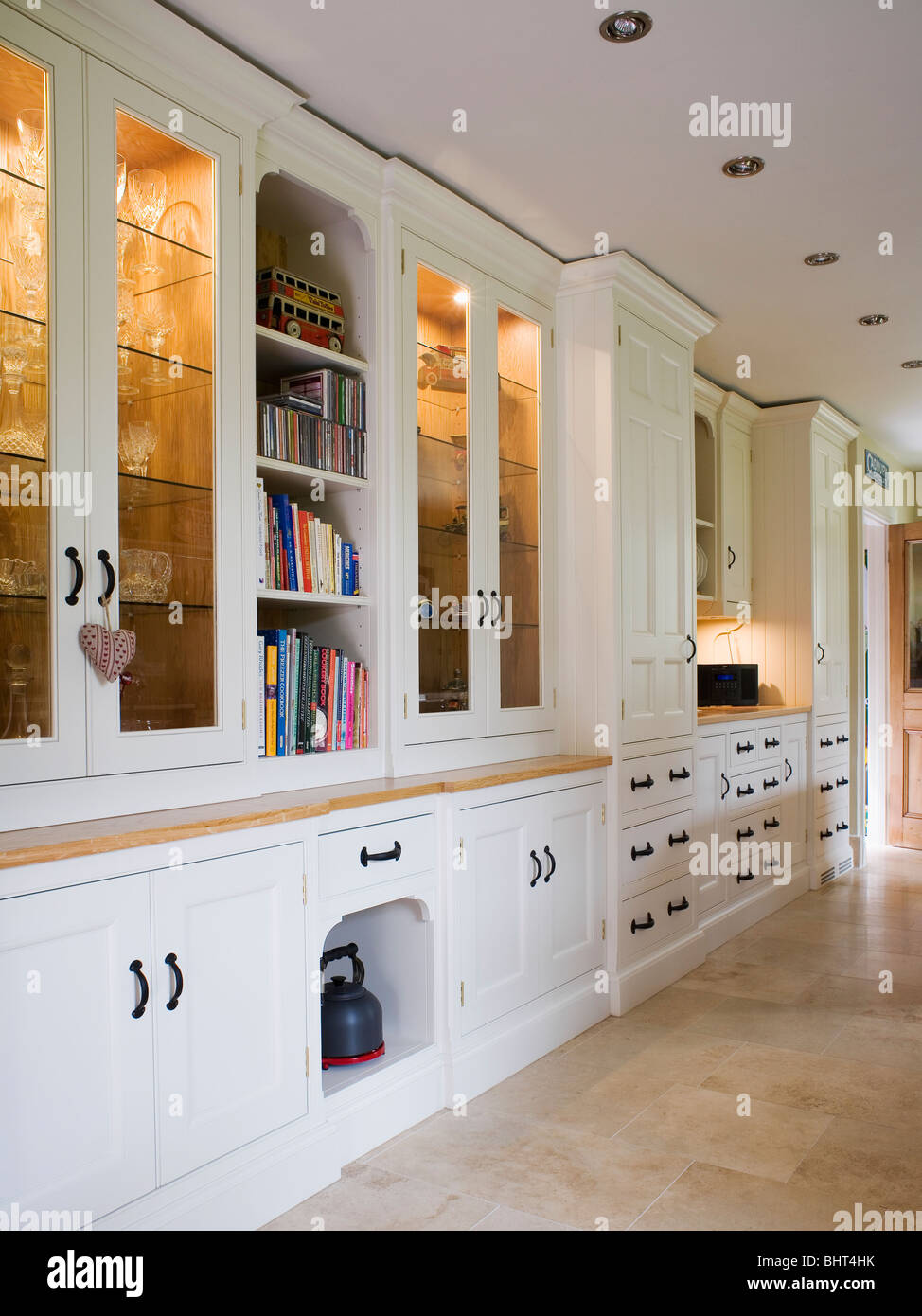 Interiors Kitchen Monochromatic Lighting Stockfotos & Interiors ...