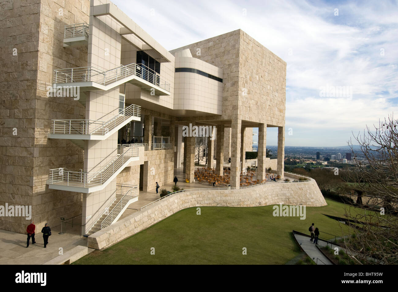 Das Getty Center for the Arts in Los Angeles Stockbild