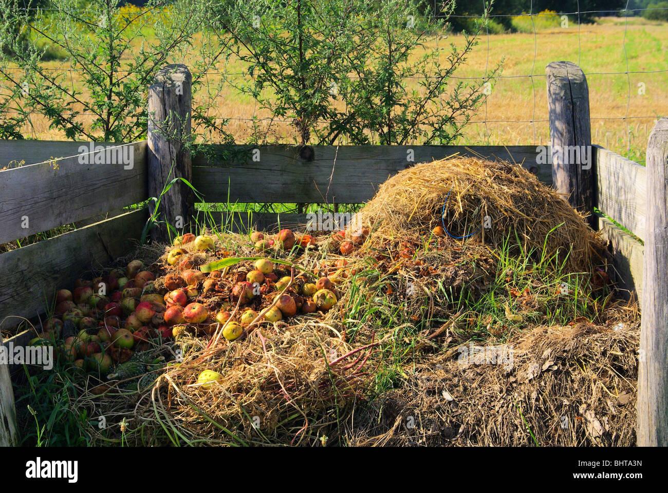 Komposthaufen - Kompost Haufen 06 Stockbild