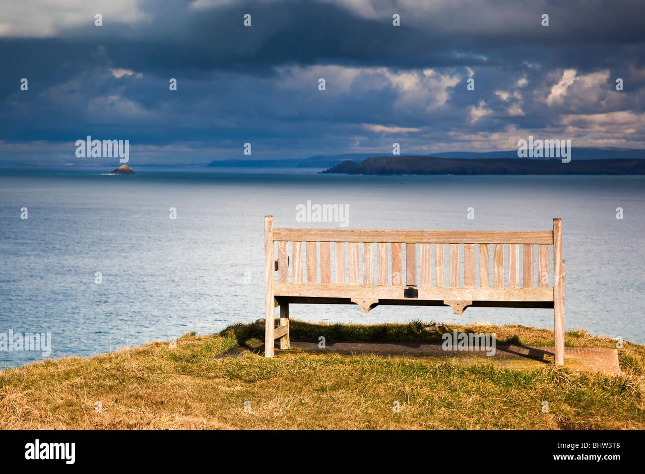Mutter Ivey Bucht; Sitzbank; mit Blick auf den Bürzel Stockfoto