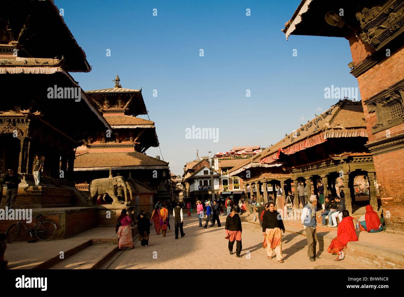 Durbar Square, Patan, Kathmandu, Nepal Stockbild