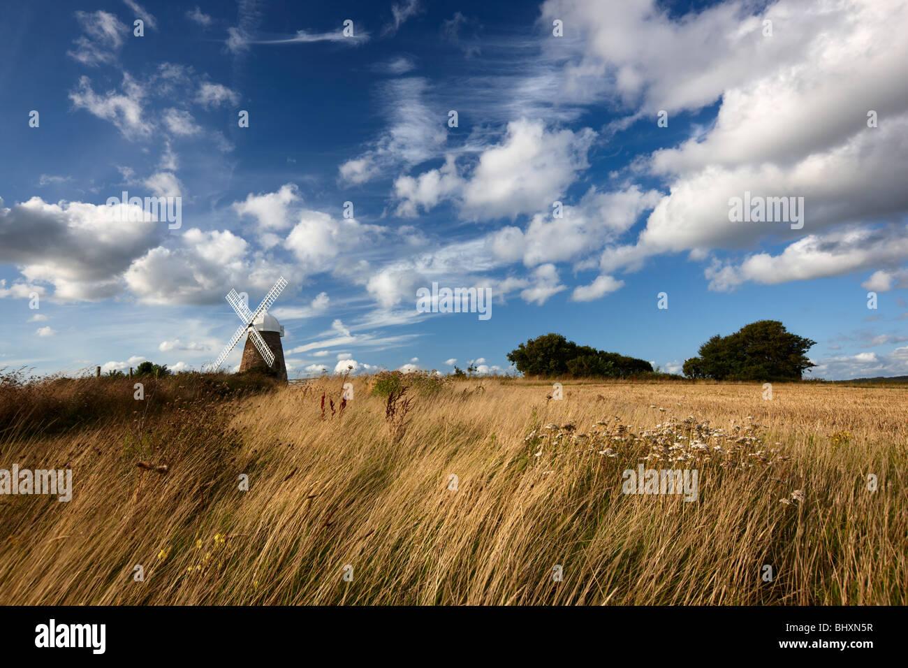 Halnaker Windmühle steht hoch oben auf einem Hügel South Downs National Park Stockbild