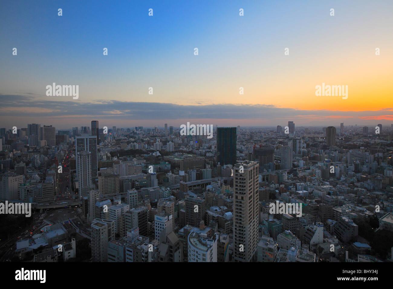 Stadtbild, Minato, Tokio, Japan Stockbild