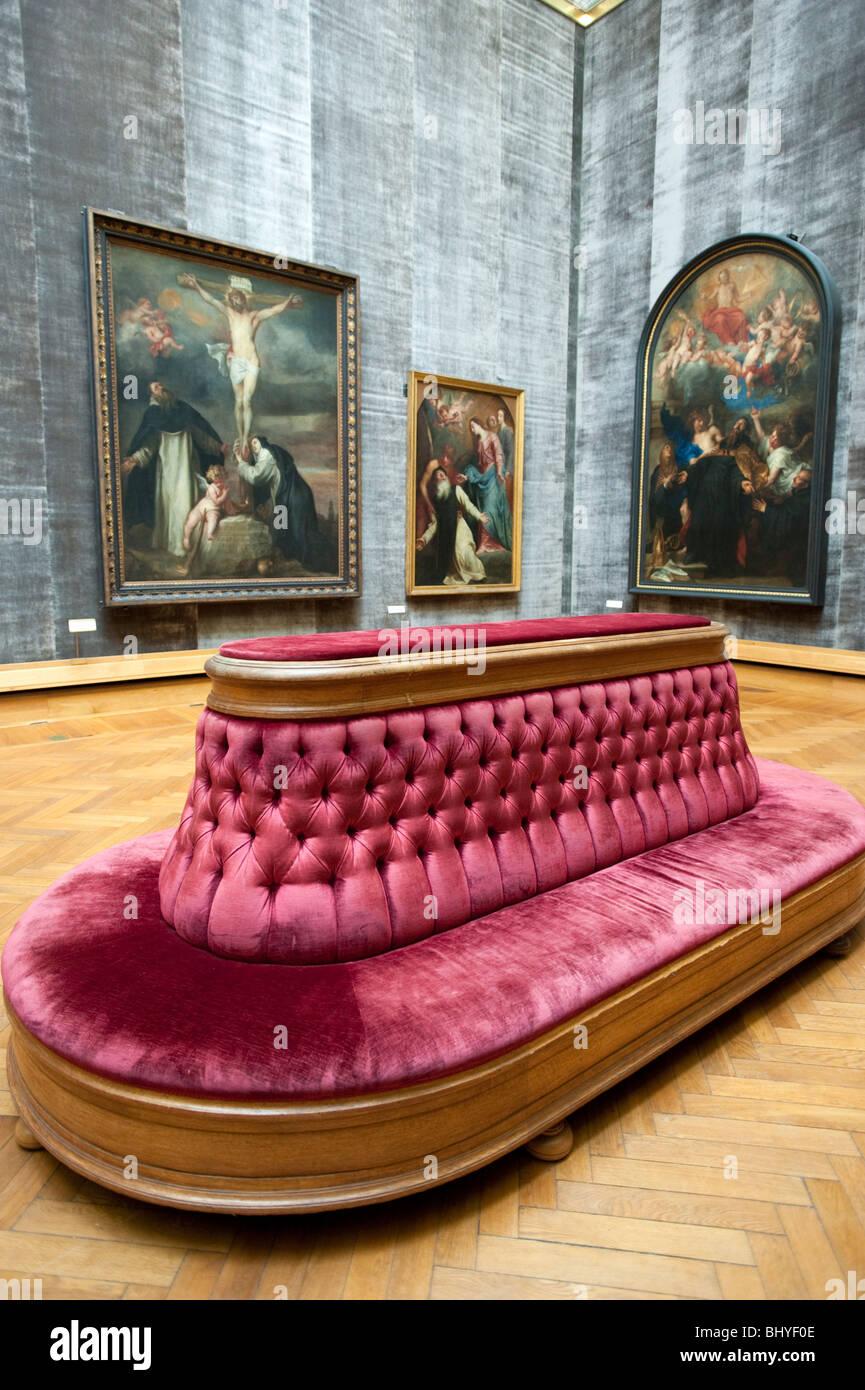 Rubens-Zimmer im Königlichen Museum der schönen Künste in Antwerpen Belgien Stockbild
