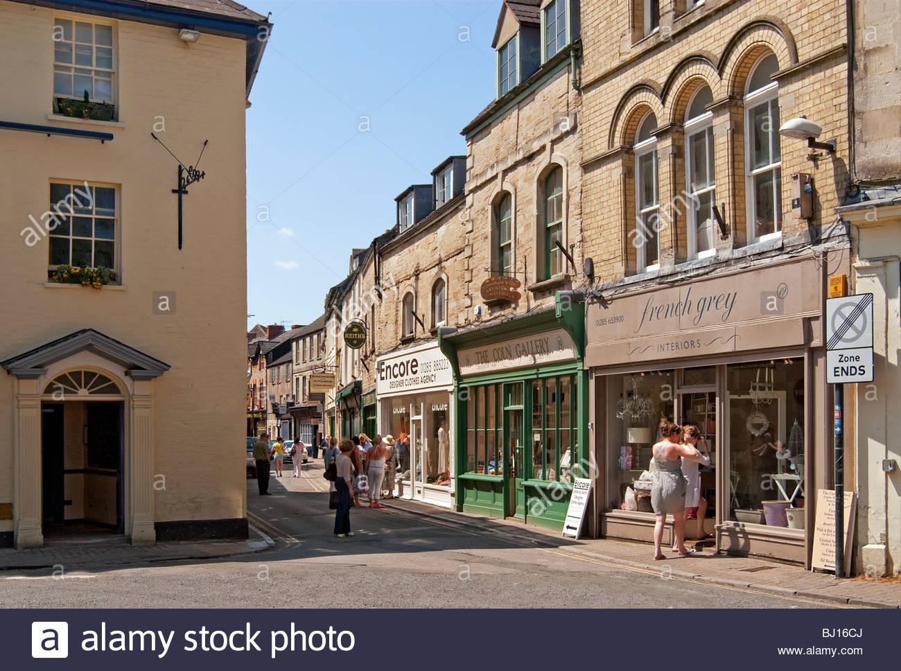 Bild der Stadt Zentrum von Cirencester Marktflecken im Osten Gloucestershire, England. Stockbild