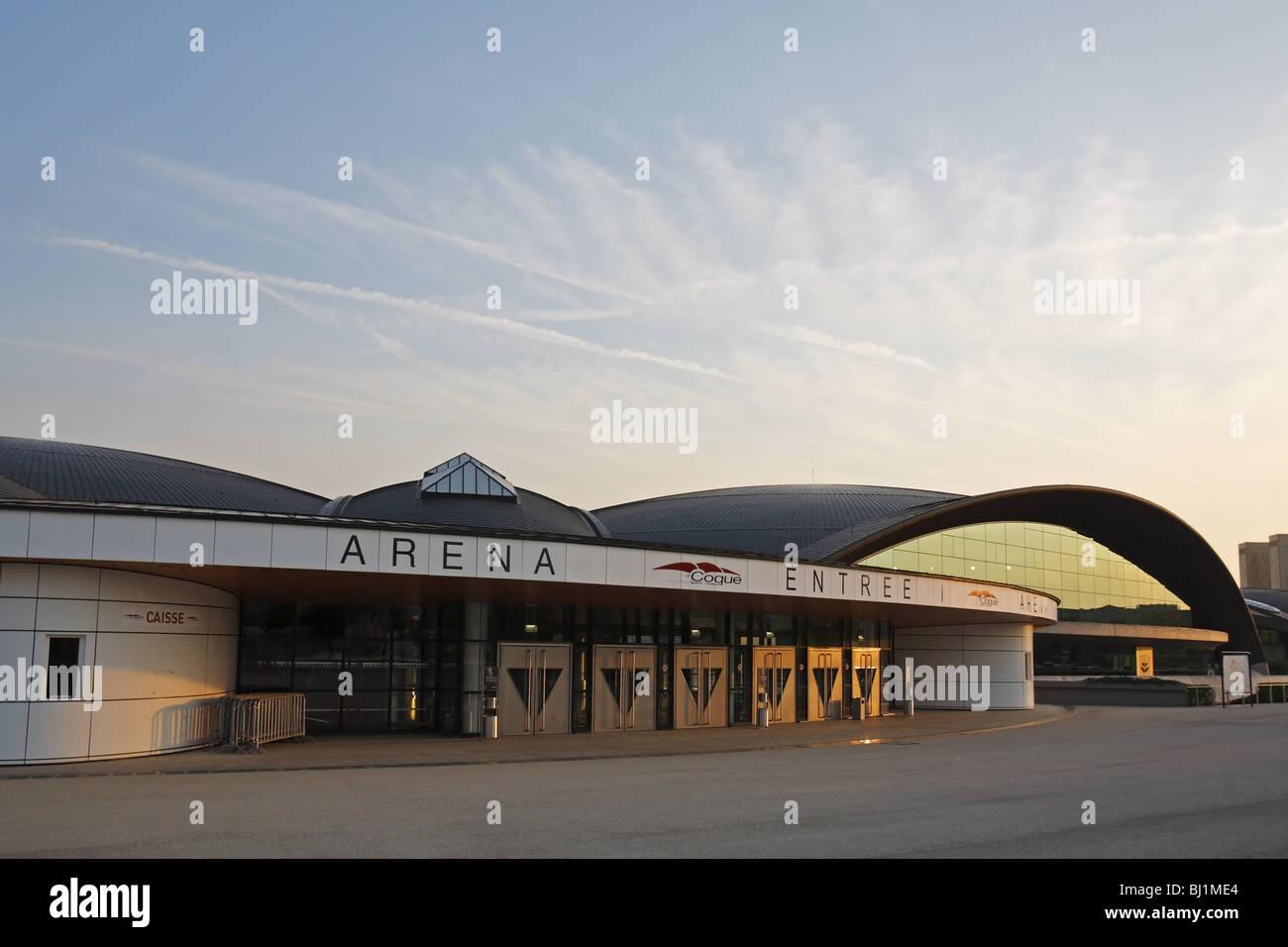 Coque nationales Sport- und Kulturzentrum in Kirchberg, Luxemburg Stockbild