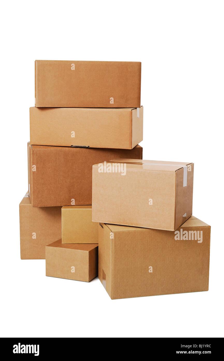 Stapel von Kisten Stockbild