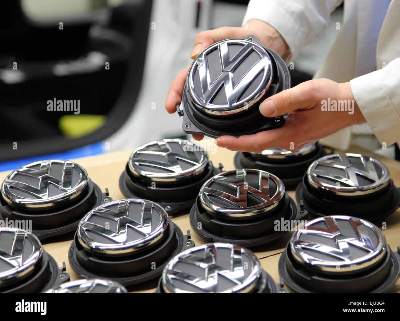 Volkswagen AG, Produktion von Pkw im Werk in Wolfsburg Stockbild