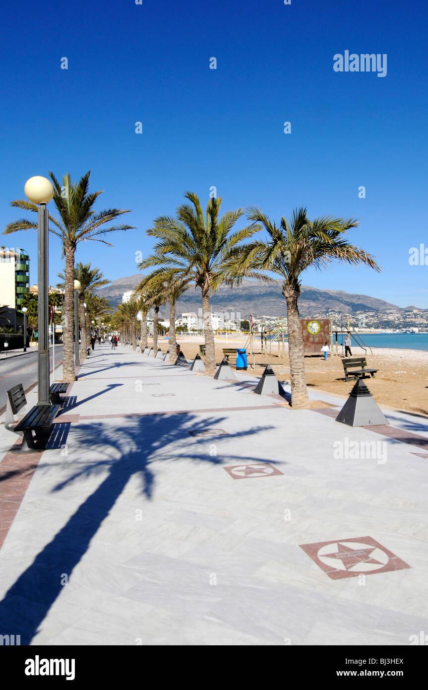Promenade von El Paseo de Estrellas, Prominente, Waterfront, Sterne, Strand promenade, Albir, Altea, Costa Blanca, Stockbild