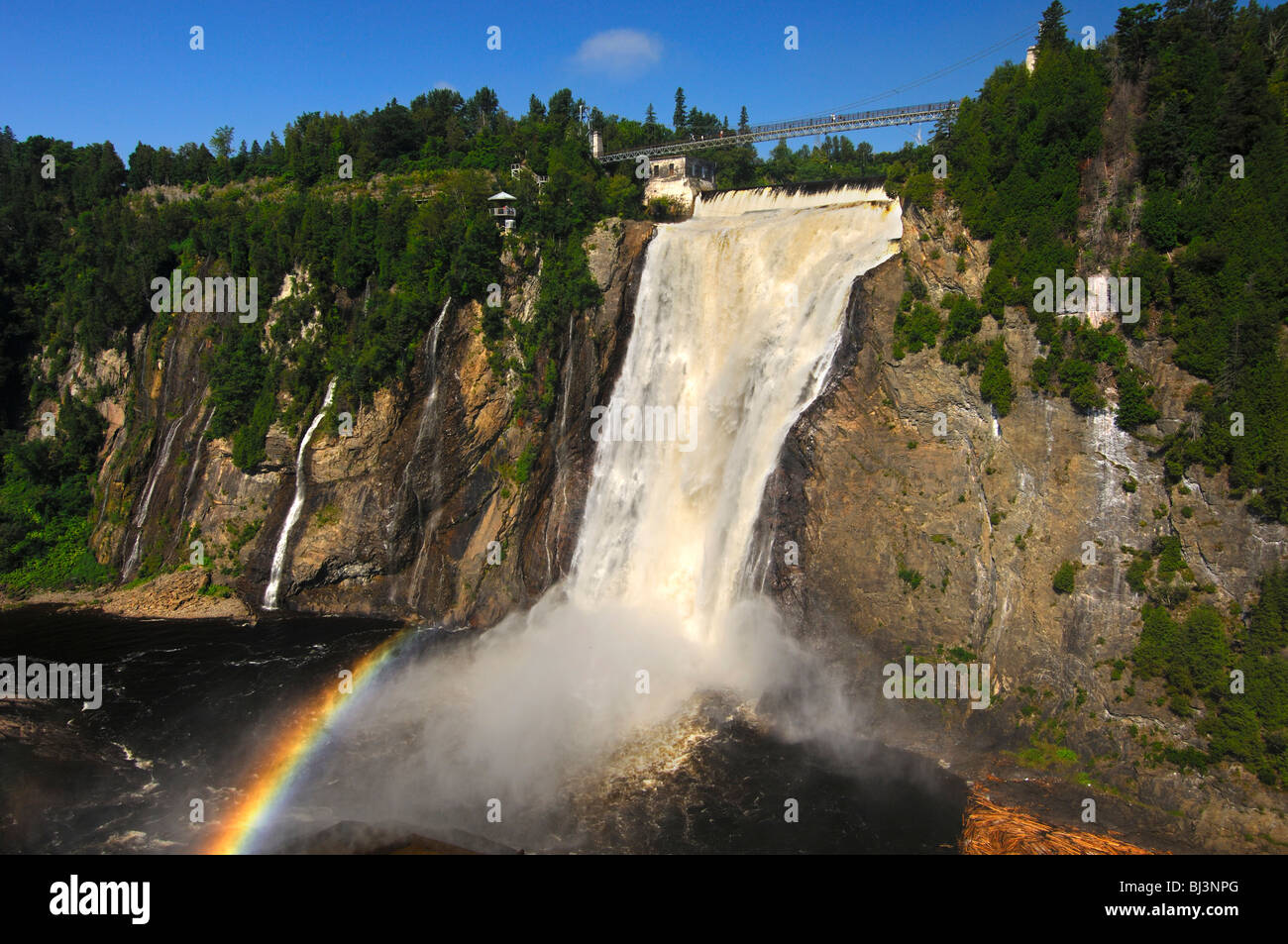 Naturschauspiel Montmorency Falls, Beauport, Quebec, Kanada Stockfoto