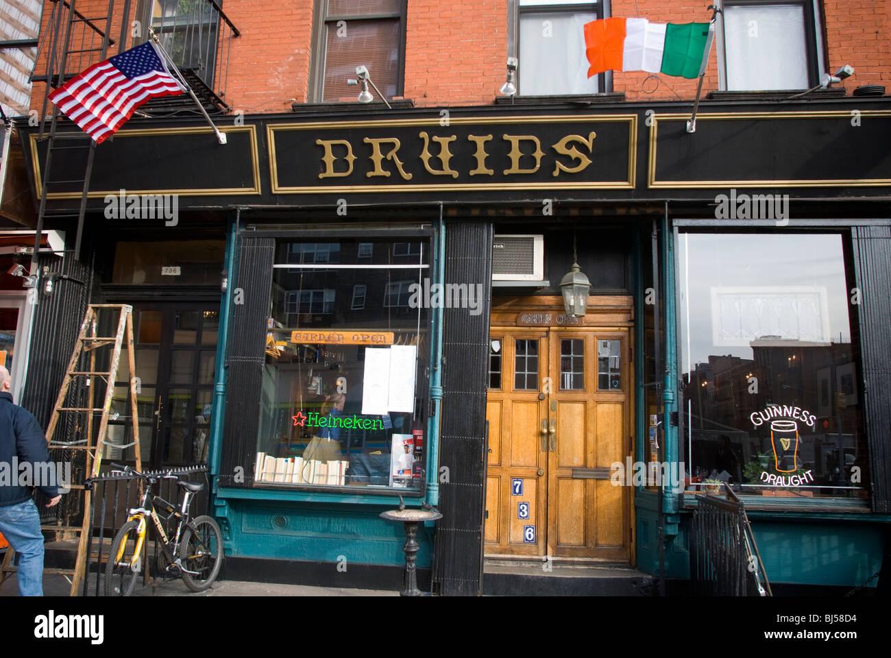 Druiden irische Bar in die Hölle Küche Nachbarschaft von New York ...