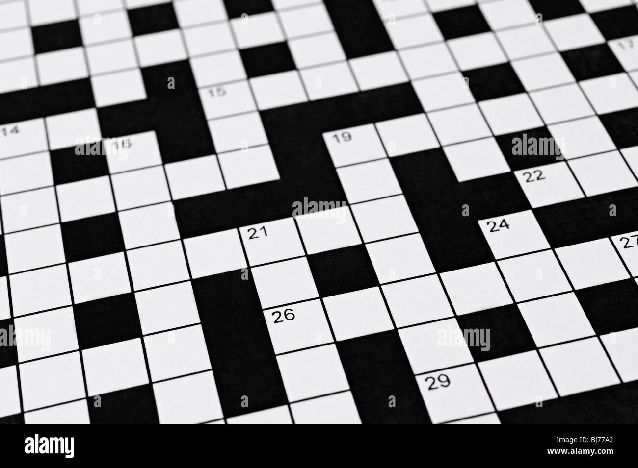 Kreuzworträtsel Stockbild