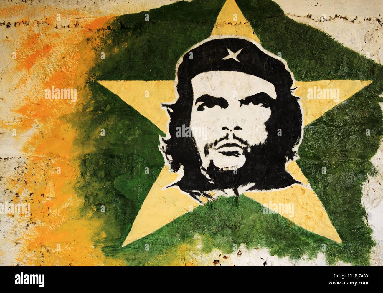 Che Guevara Malerei an einer Wand in Havanna Kuba Stockbild