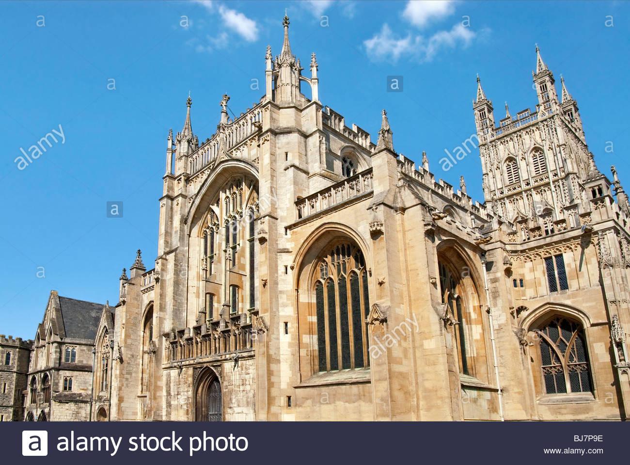 Bild der Kathedrale von Gloucester, oder die Kathedrale St. Peter und der Heiligen und ungeteilten Dreifaltigkeit Stockbild