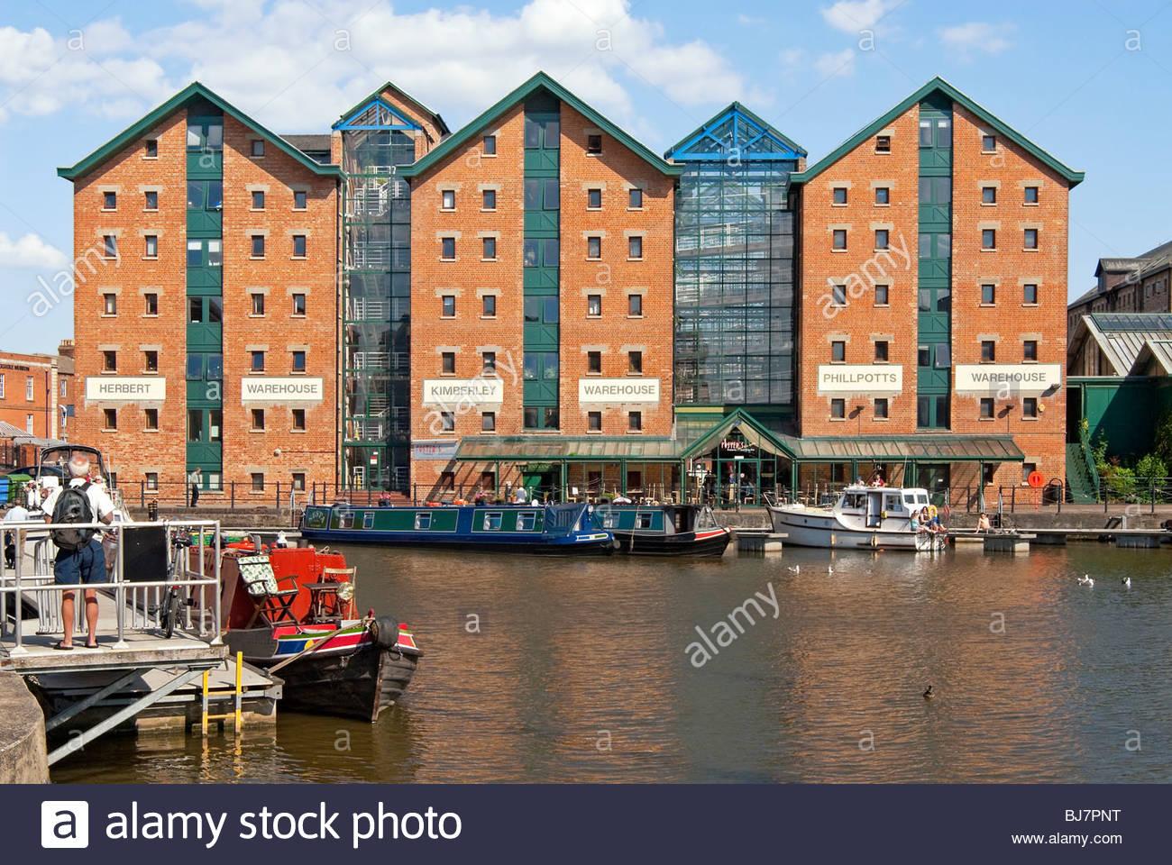 Bild der Lager in den Docklands von Gloucester Stockbild