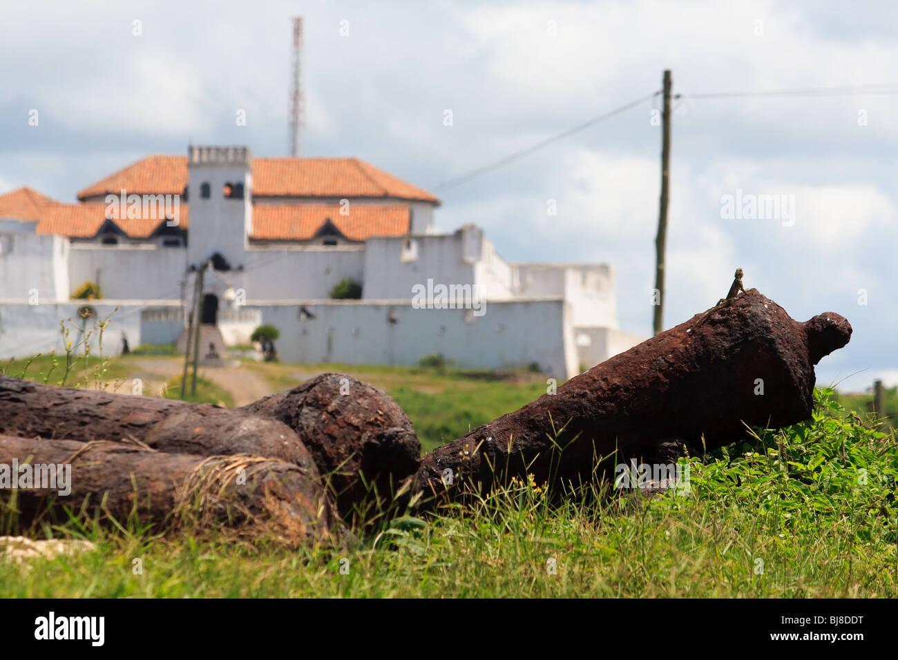 Afrika Elmina Castle Fort Ghana Landschaften Stockbild
