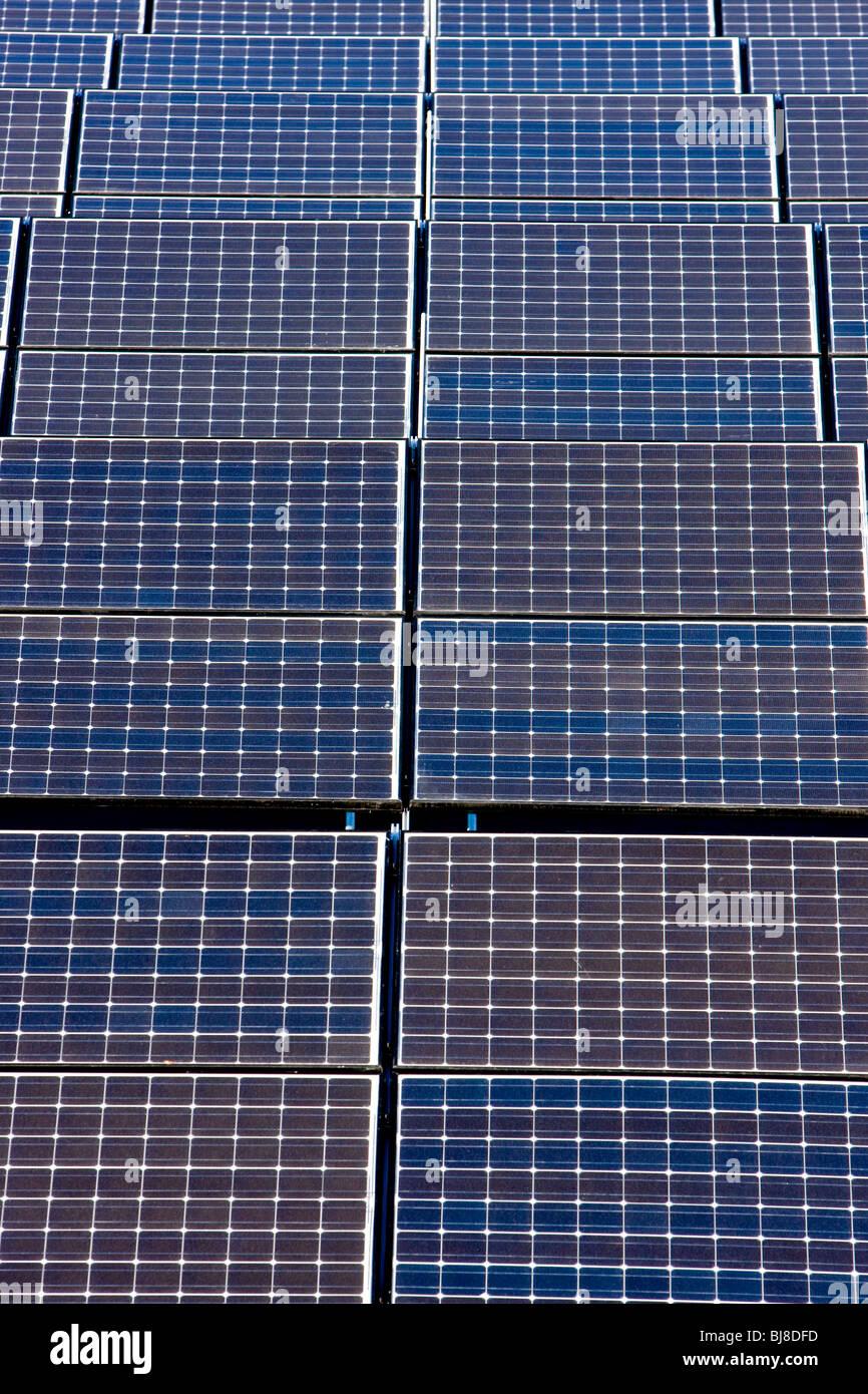 Solar Power Panels Stockbild