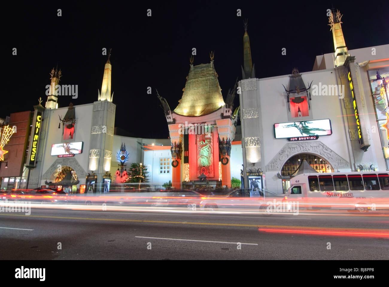 Graumans Chinese Theatre in Hollywood, Kalifornien. Stockbild