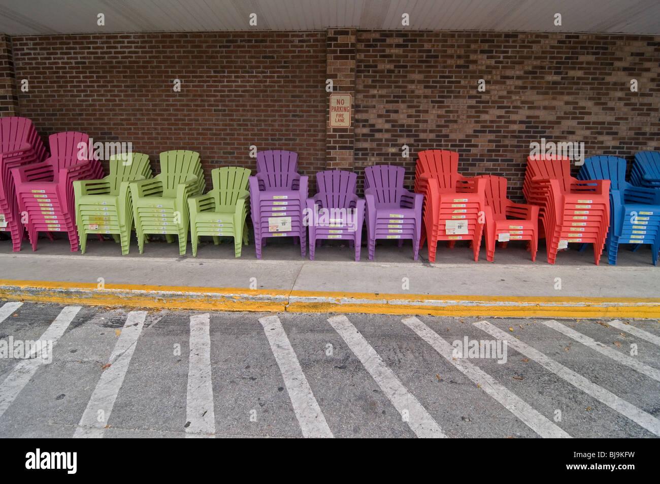 Multi Farbige Kunststoff Gartenmöbel Für Den Verkauf Außerhalb