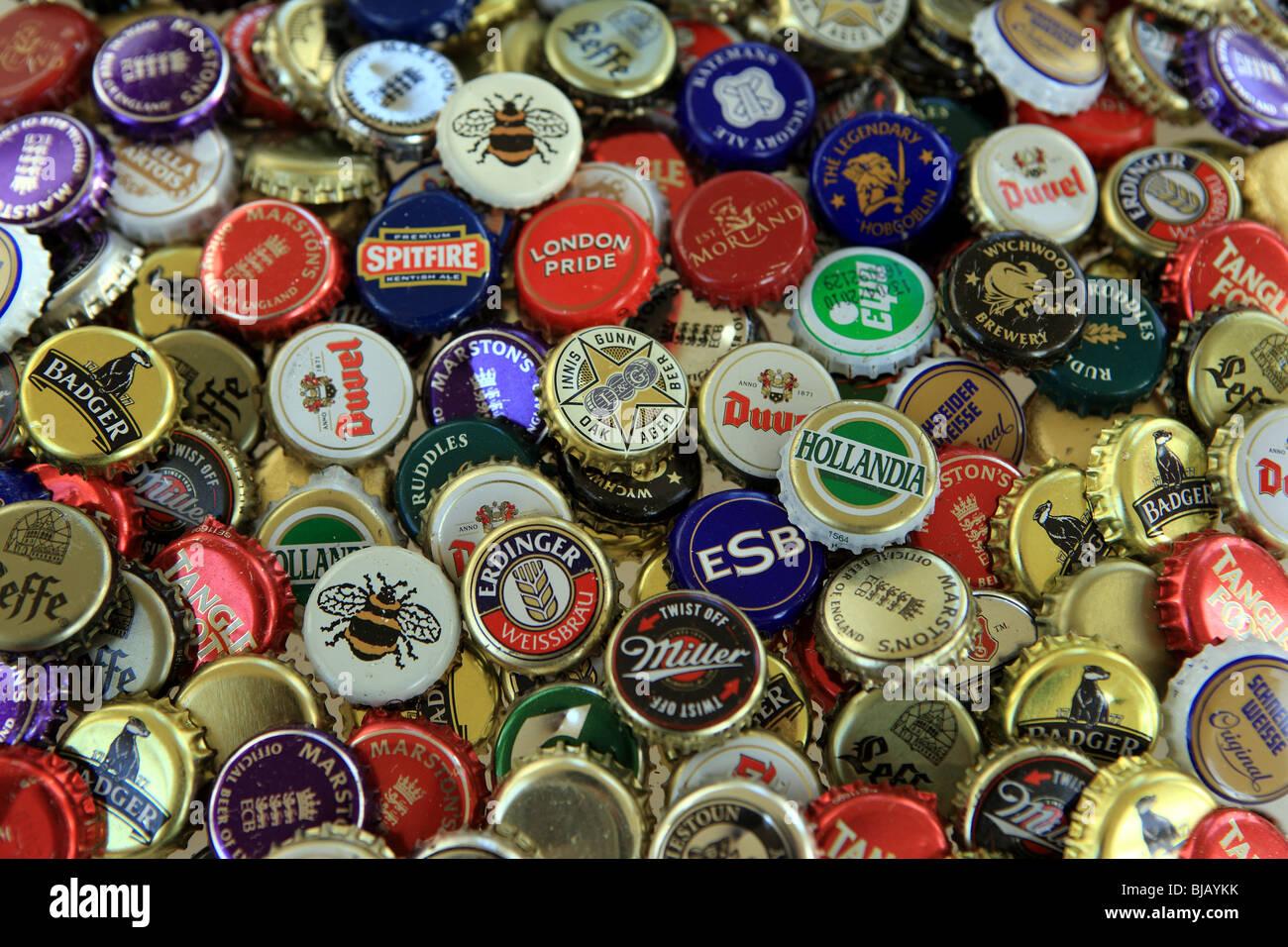 Bier-Kronkorken Stockbild