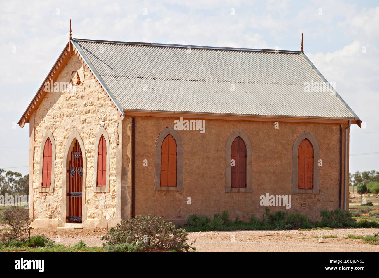Evangelisch-methodistische Kirche, Silverton in der Nähe von Broken Hill, Outback Australien New South Wales Stockfoto