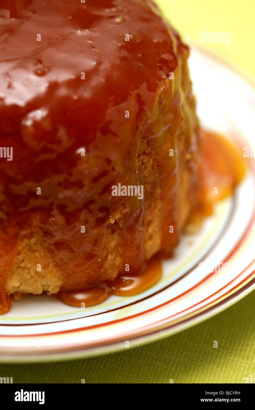 Frisch gebackene Sirup Sponge Pudding Dessert mit Keine Personen Stockfoto
