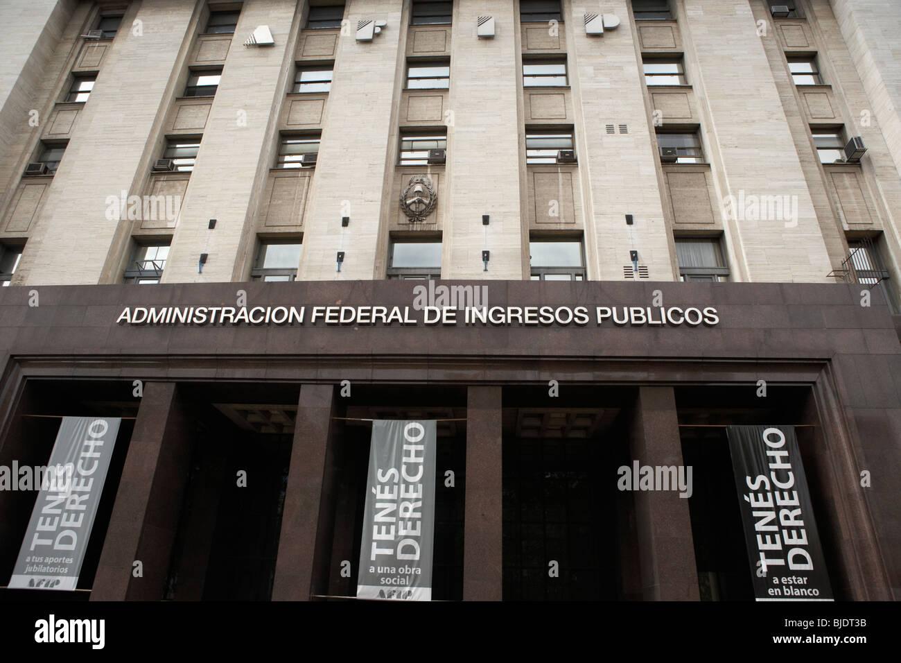 Administracion federal de Ingresos können Steuer- und Zolleinnahmen Behörde Gebäude im Stadtzentrum Stockbild