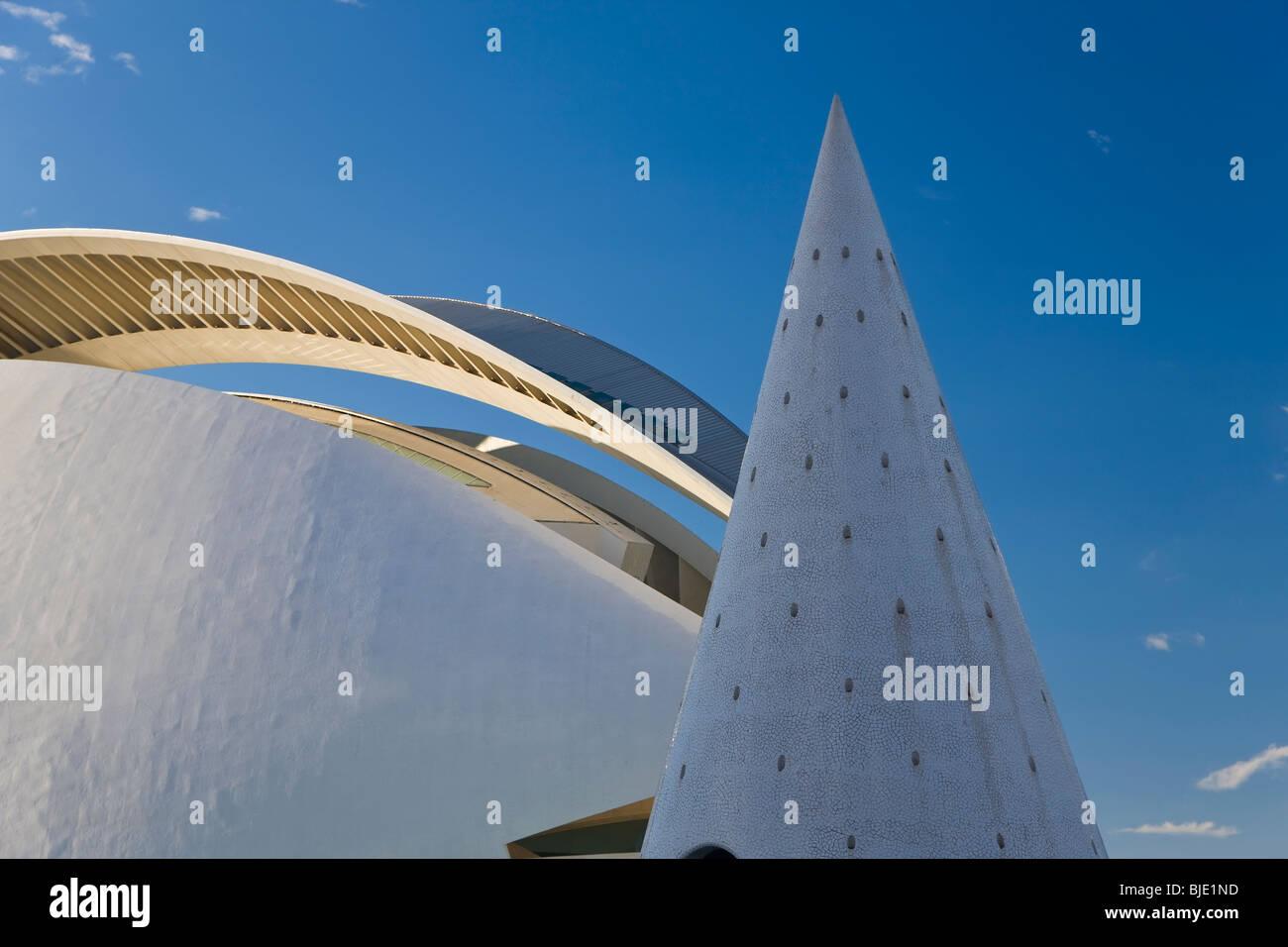 Stadt der Künste und Wissenschaften Gebäude, eine kombinierte Science Museum, Planetarium, ozeanographische Stockbild